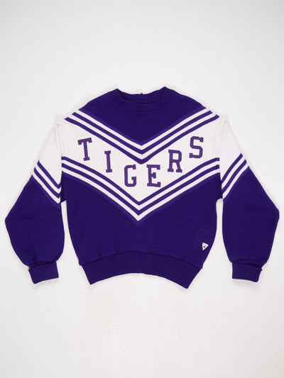 TIGERS Spell Out Chevron Knit Purple / White Size Medium
