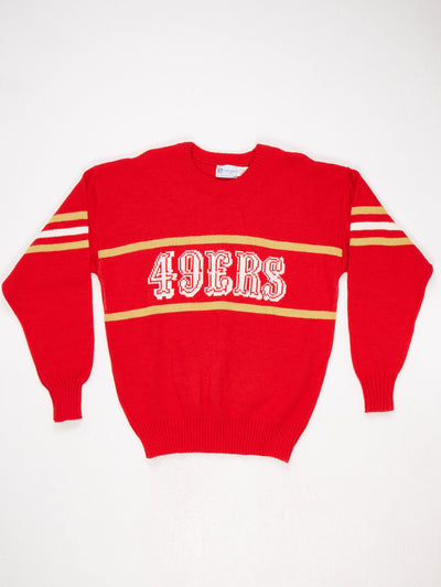 San Francisco 49ers Spell Out Knit  Red / White / Gold Size XL