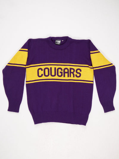 Cougars Spell Out Knit  Purple / Yellow Size Large