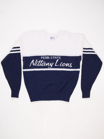 Penn State Nittany Lions Spell Out Knit  Blue / White Size Large