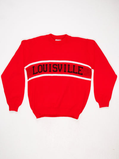 Louisville Spell Out Knit  Red / Black / White Size Large