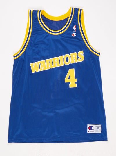 Golden State Warriors Basketball Vest 'Webber 4' Blue / Yellow Size Large