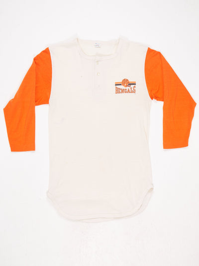 Cincinnati Bengals Grandad T-Shirt Cream / Orange Size Large