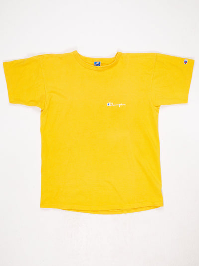 Champion Small Logo T-Shirt Yellow Size XL