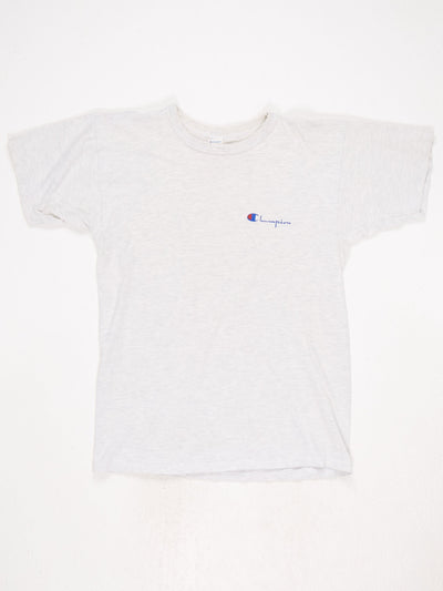 Champion Small Logo T-Shirt White / Grey Size Large