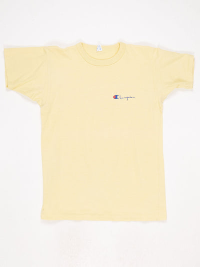 Champion Small Logo T-Shirt Yellow Size Medium