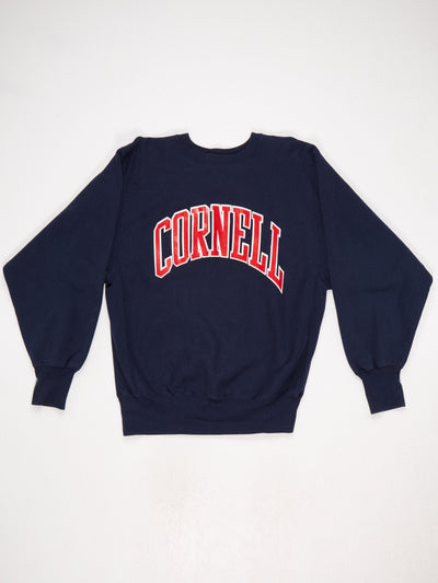 Cornell Reverse Weave Printed Sweatshirt Blue / Red / White Size Large