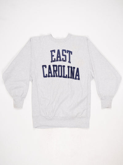 East Carolina Reverse Weave Printed Sweatshirt Grey / Blue Size XXL