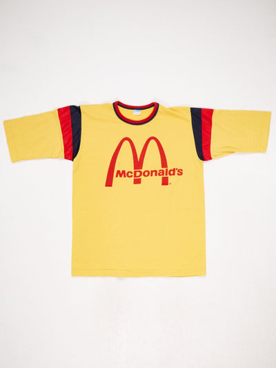 McDonalds Printed T-Shirt Yellow / Red / Blue Size Medium