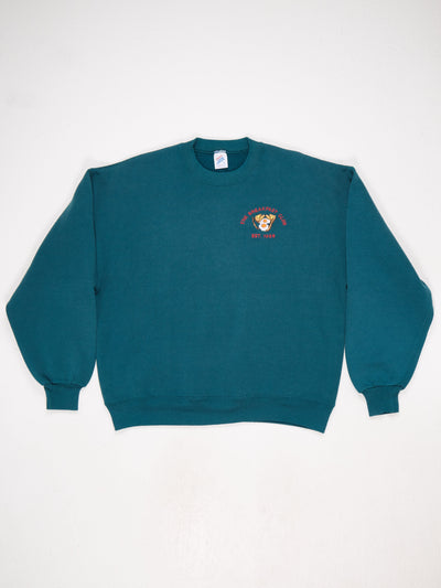 The Breakfast Club 1988 Embroidered Sweatshirt Green Size Large