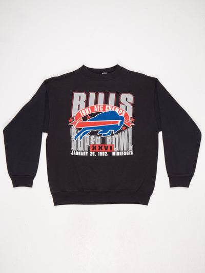 Bulls 1991 AFC Champs Printed Sweatshirt Black / Multi Size Large