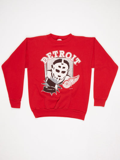 Detroit Red Wings Hockey Printed Sweatshirt Red / Black / White Size Large