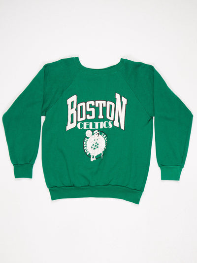 Boston Celtics Printed Sweatshirt Green/ White Size Large