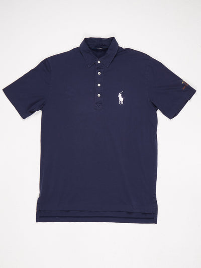 Ralph Lauren Polo Golf Shirt 'Rancho Las Palmas' Blue / White Size Medium