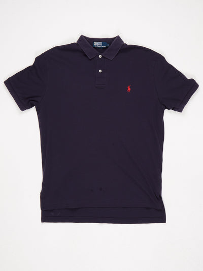 Ralph Lauren Polo Shirt Blue / Red Size Medium