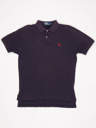 Ralph Lauren Polo Shirt Blue / Red Size Small