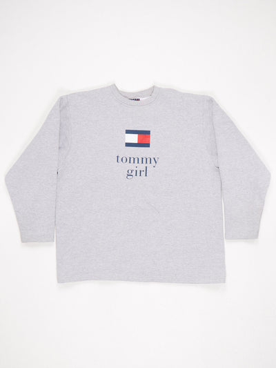 Tommy Hilfiger Tommy Girl Printed Sweatshirt Grey Size Large