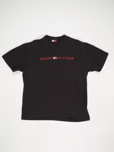 Tommy Hilfiger Crew Neck Spell Out T-Shirt Black / Red / White / Blue Size Medum