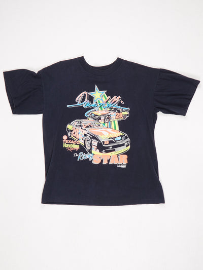 The Rising Star 1991 Neon Print T-Shirt Blue / Multi Size Large