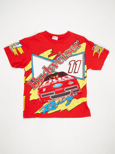 Budweiser Car Print T-Shirt Red / Multi Size Large
