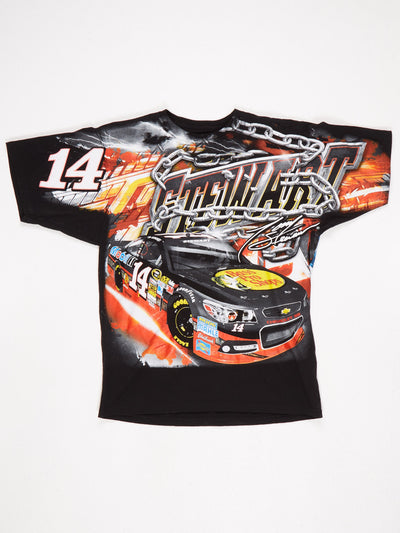 Stewart Haas Racing All Over Print T-Shirt Black / Multi Size Large