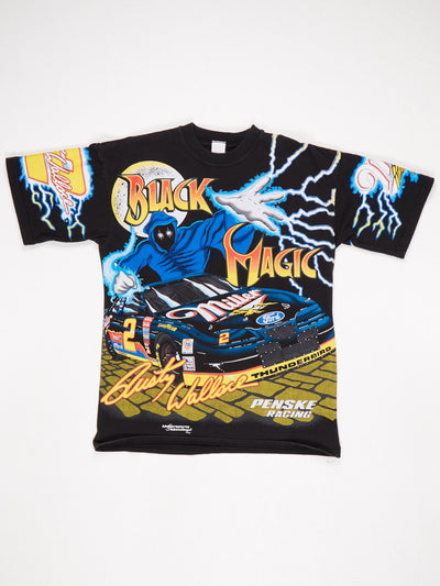 Black Magic Pensake Racing All Over Print T-Shirt Black / Mulit Size Large