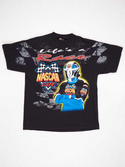 Myrtle Beach Nascar Cafe All Over Print T-Shirt Black / Multi Size XL