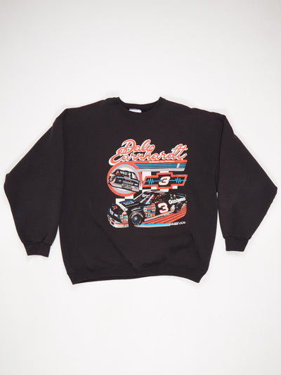 Dale Earnhardt Racing Print Sweatshirt Black / Multi Size XXL