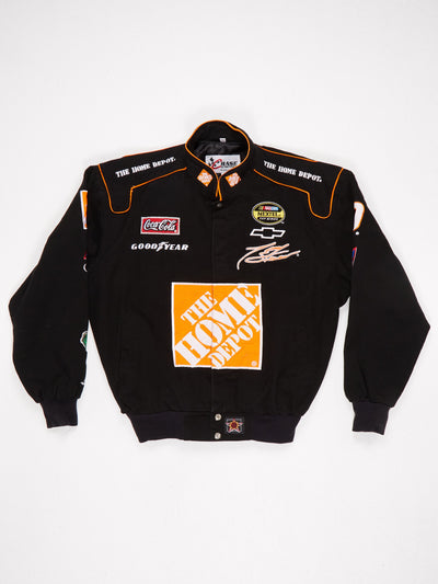 The Home Depot Multi Patch Racing Jacket Black / Orange / Multi Size Medium
