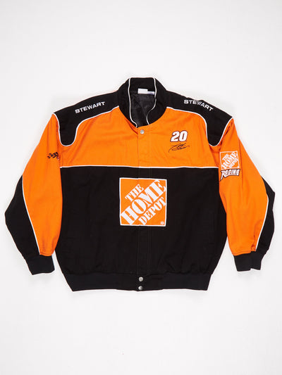 The Home Depot Patched Racing Jacket Black / Orange / White Size XXL