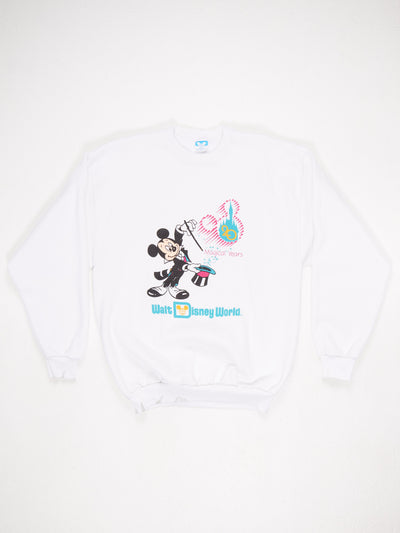 Walt Disney World 20 Magical Year' Magician Mickey Character Printed Sweatshirt White / Multi Size Large