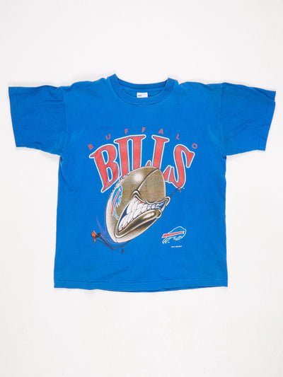 Buffalo Bills American Football Printed T-Shirt Blue / Red / White Size Large