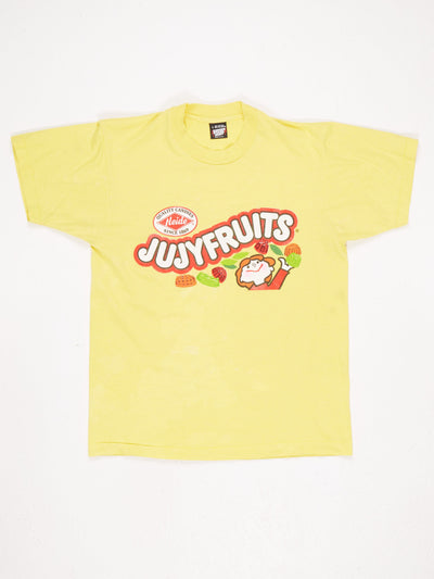 Juicyfruits Spellout Printed T-Shirt Yellow / Multi Size Large