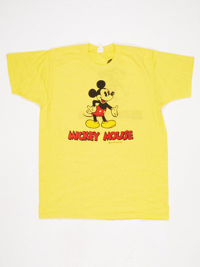 Disney Mickey Mouse Spell Out Character Printed T-Shirt Yellow / Black / Red Size XL