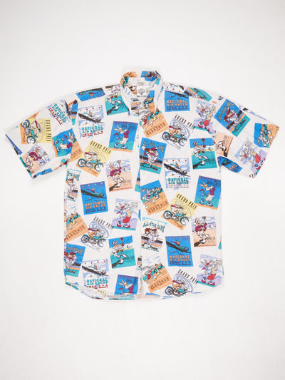 Looney Tunes Sport All Over Print Character T-Shirt Multi Size Medium