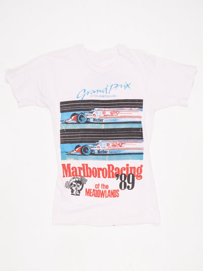 Marlboro Racing '89 Printed T-Shirt White / Multi Size Small