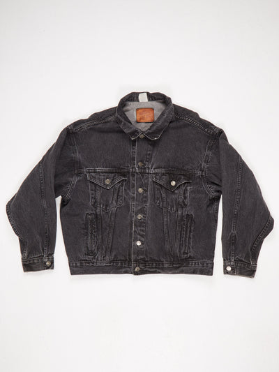Marlboro Denim Jacket 'Marlboro Wild West' Print Black Size Large