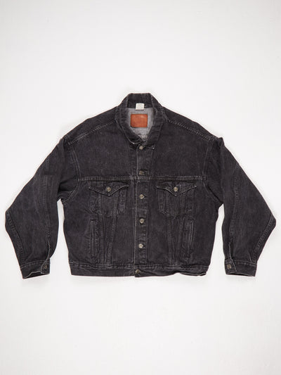 Marlboro Denim Jacket with 'Marlboro Wild West' Black Size XL