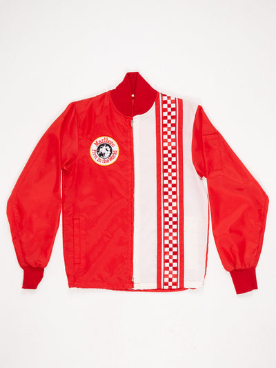 Marlboro First in The World Lightweight Zip Up Jacket Red / White Size Small