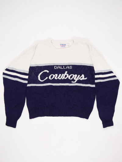 Dallas Cowboys Spell Out Knit Blue / White Size Medium