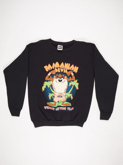 Looney Tunes Tazmanian Devil Printed Sweatshirt Black / Multi Size XL