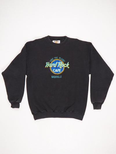 Hard Rock Cafe Nashville 'Save The Planet' Embroidered Sweatshirt Black / Blue / Green / Yellow Size Large