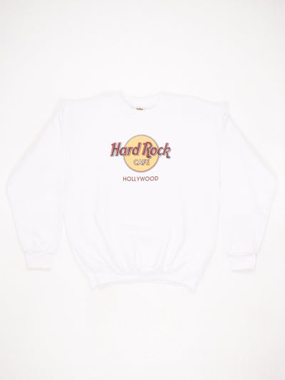 Hard Rock Cafe Hollywood White / Yellow / Burgundy Size XL