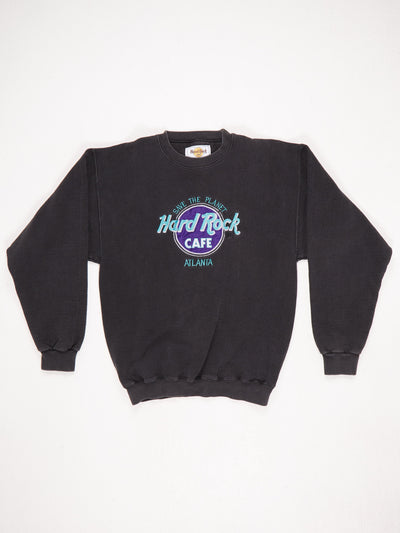 Hard Rock Cafe Atlanta 'Save The Planet' Embroidered Sweatshirt Black / Green / Purple / White Size Medium