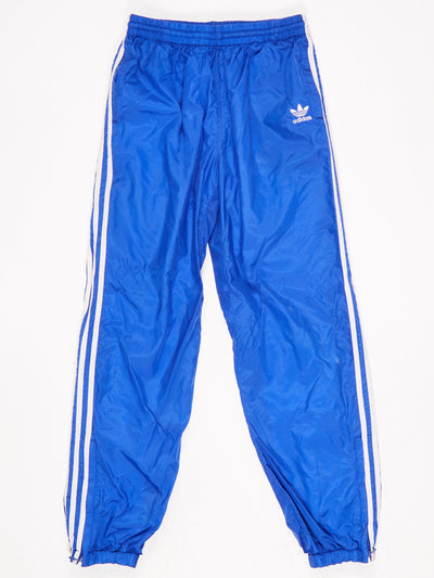 Adidas Poppered Leg Track Pants Blue / White Size XL