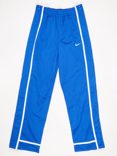 Nike Poppered Leg Track Pants Blue / White SIze Large