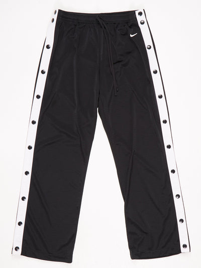 Nike Poppered Leg Track Pants Black / White SIze Medium