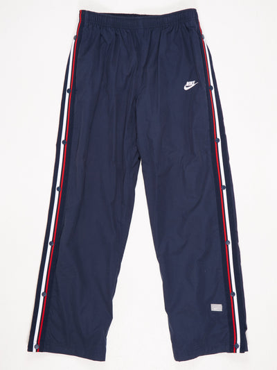 Nike Poppered Leg Track Pants Blue / White / Red SIze Medium