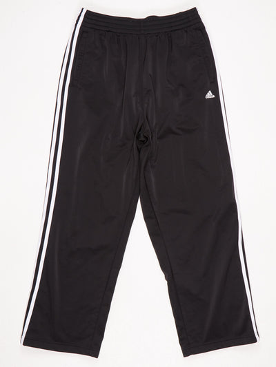 Adidas Poppered Leg Track Pants Black / White Size Large
