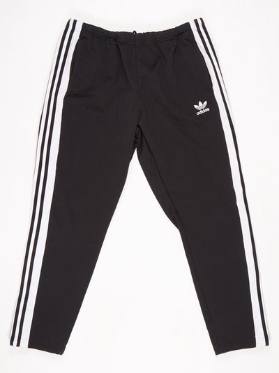Adidas Popper Leg Track Pants Black / White Size XL